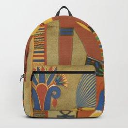 Egyptian, Tutunkhamun, Pharaoh, Design, Man, Headpiece. Vintage. Retro. Illustration.  Backpack