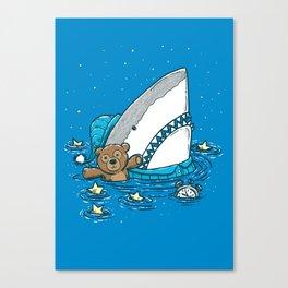 The Sleepy Shark Canvas Print