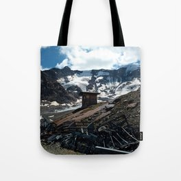 glacier end kaunertal alps tyrol austria europe Tote Bag
