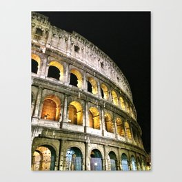 Il Colosseo - The Coliseum at Night (Rome, Italy) Canvas Print
