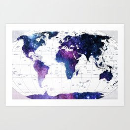 ALLOVER THE WORLD-Galaxy map Art Print