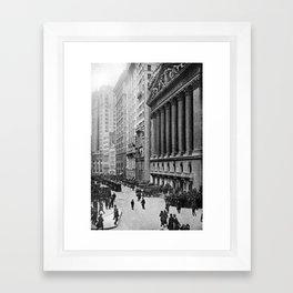 Vintage Wall Street NYC Photograph (1921) Framed Art Print