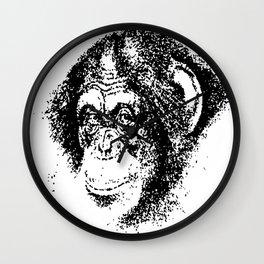 Pensive Chimpanzee Wall Clock