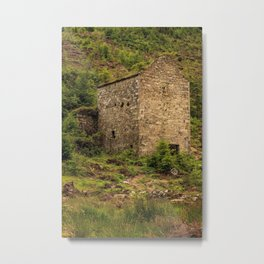 Old building in the Glenmalure Metal Print