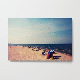 Lake Michigan Beach Scene Metal Print