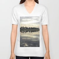 florida V-neck T-shirts featuring Florida Sunrise by Stephanie Stonato