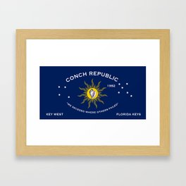 Conch Republic Flag Framed Art Print