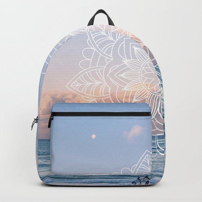 Twilight surf mandala Backpack