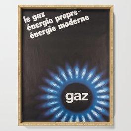 Plakat le gaz energie propre energie Serving Tray