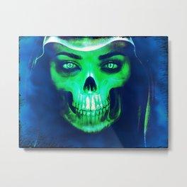 Skull Aglow Metal Print
