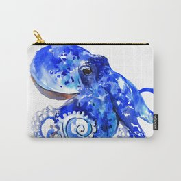 Blue Octopus Carry-All Pouch