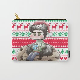 Christmas Seed Wolf Carry-All Pouch