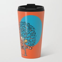 Cats under the blue moon Travel Mug