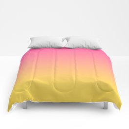 Pink and Yellow Ombre Print Comforters