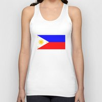 philippines Tank Tops featuring Philippines country flag by tony tudor