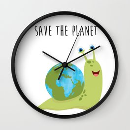 Save the Planet - It's on your shoulder Wall Clock