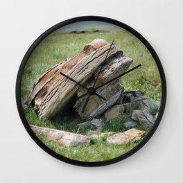 Round Rocks Wall Clock