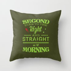 Second Star to the Right - Peter Pan Throw Pillow
