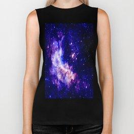 indigo galaxy : Celestial Fireworks Biker Tank