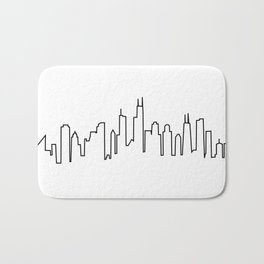 Chicago, Illinois City Skyline Bath Mat