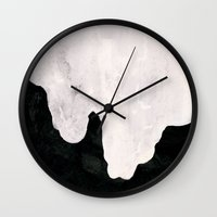 blood Wall Clocks featuring Blood by Sharon Lichtfeld