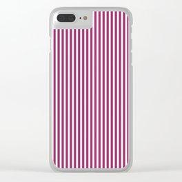 Festival Fuchsia Stripes Clear iPhone Case