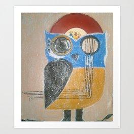 Muscial Owl Art Print