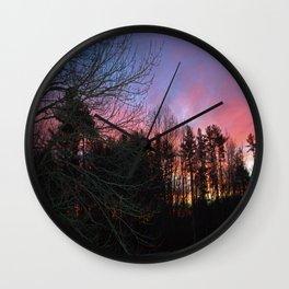Fiery Silhouette Wall Clock