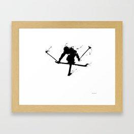 Ski jumper Framed Art Print