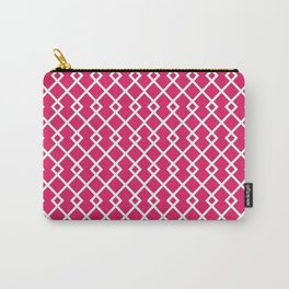 Raspberry Red Diamond Pattern Carry-All Pouch