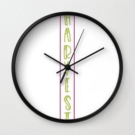 Vertical Harvest Fall Design Wall Clock