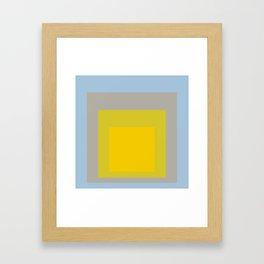 Block Colors - Yellow Green Grey Blue Framed Art Print