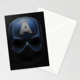 Capt America - Cowl Portrait Stationery Cards