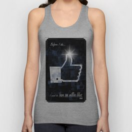 I want to have one million likes Unisex Tank Top