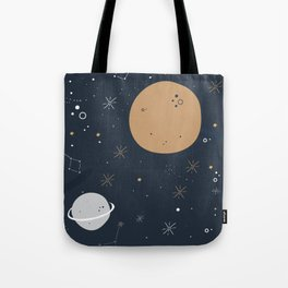The Moon and the Stars Tote Bag