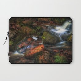 Colours of Autumn in a Brecon stream Laptop Sleeve