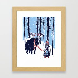 Den Swedish Christmas Moosen Framed Art Print