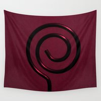 key Wall Tapestries featuring The key by Françoise Reina