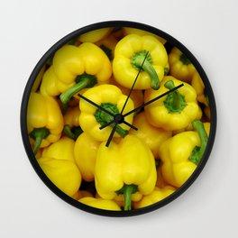 Yellow paprika Wall Clock