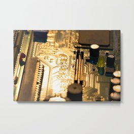 Sunset Technology Metal Print