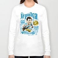 argentina Long Sleeve T-shirts featuring Pulga Argentina by Gonza Rodriguez