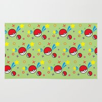 pokeball Area & Throw Rugs featuring Pokeball pattern by Sierra