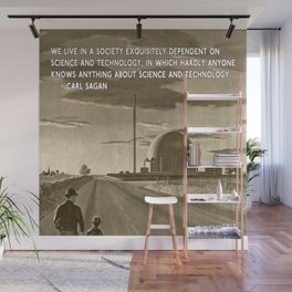 Science and Technology Quote Carl Sagan Wall Mural