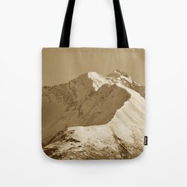 Majestic Mountain - Sepia Tote Bag