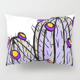 Lavender Blooming Cacti Pillow Sham