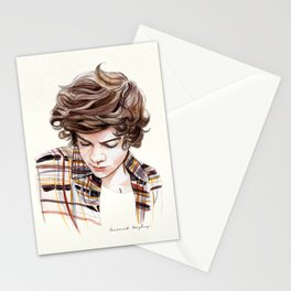 H plaid watercolors Stationery Cards