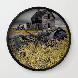Decline of the Small Farm No 2 Wall Clock