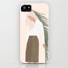 Holding a Palm Leaf iPhone Case