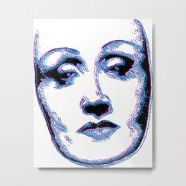 3D Portrait of Marlene Dietrich Metal Print