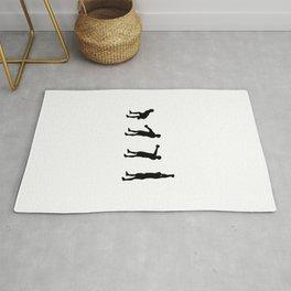 Kettlebell American Swing Silhouette Rug